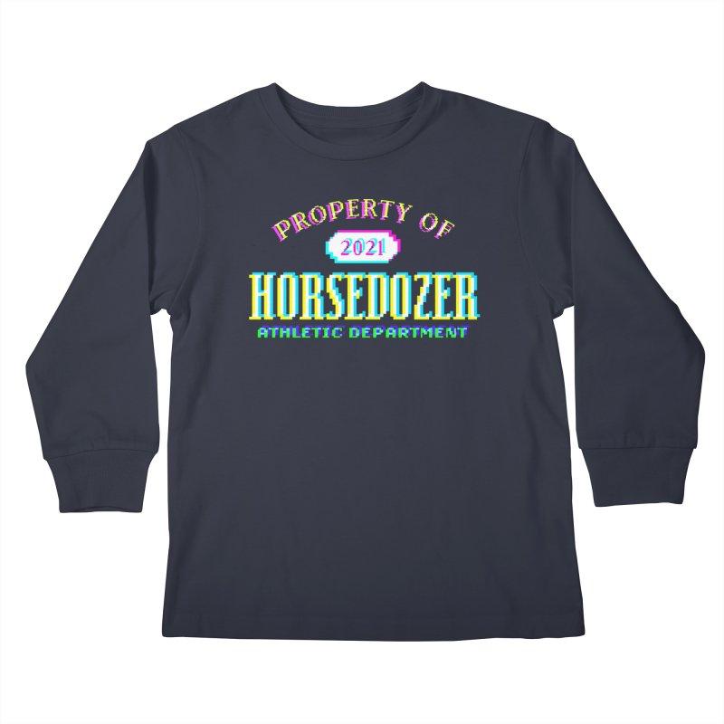HORSEDOZER ATHLETICWAVE Kids Longsleeve T-Shirt by HORSEDOZER