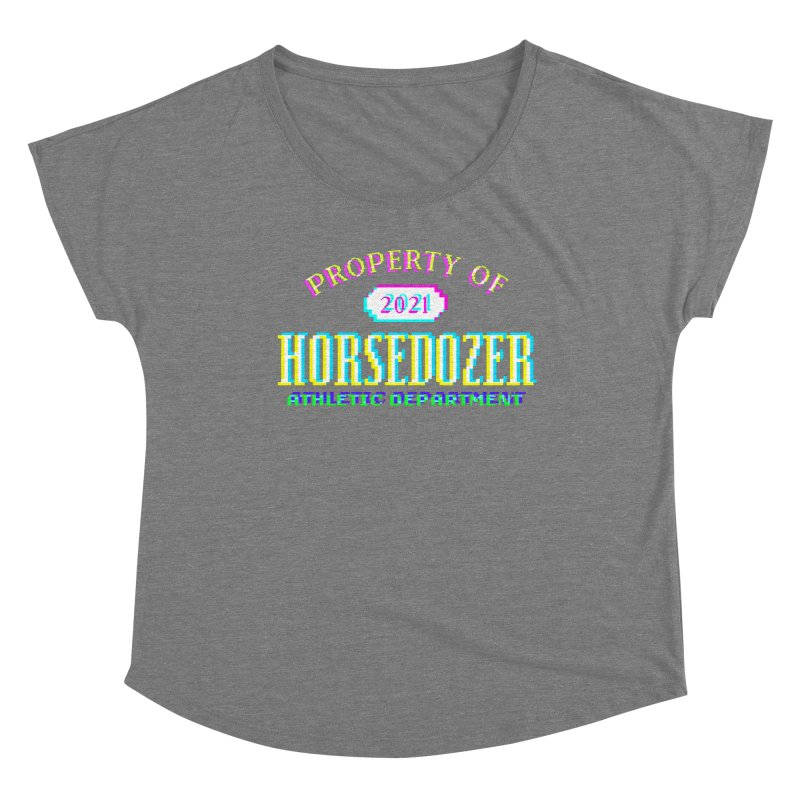 HORSEDOZER ATHLETICWAVE Women's Scoop Neck by HORSEDOZER