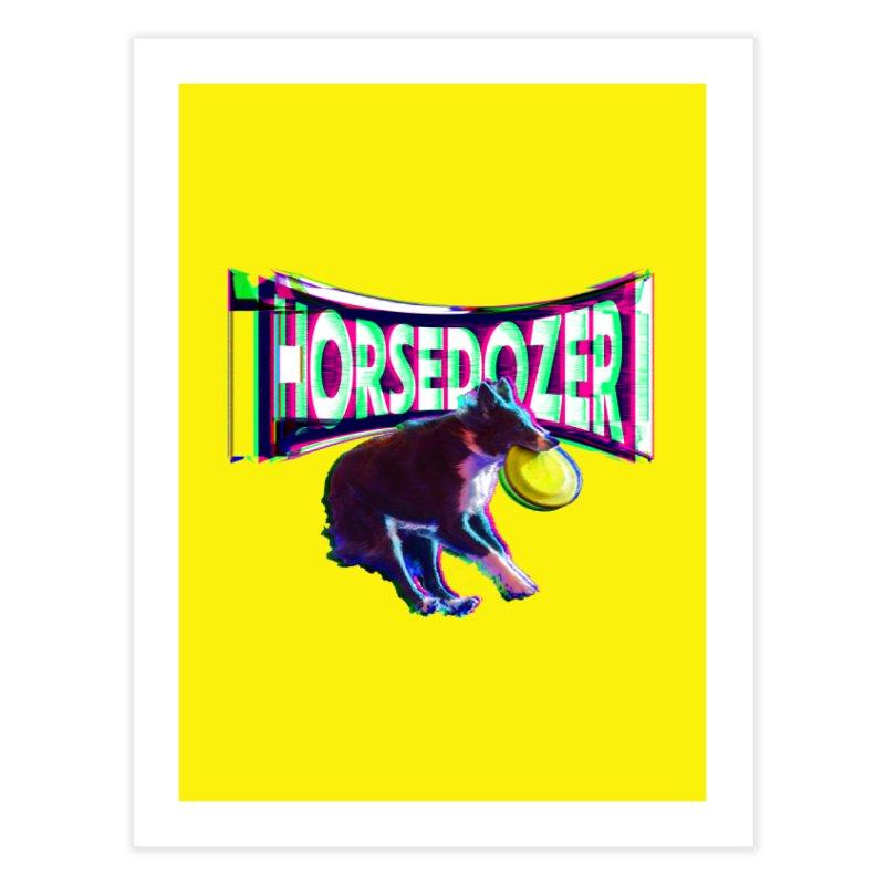 HORSEDOZER FRIZBEEWAVE Home Fine Art Print by HORSEDOZER