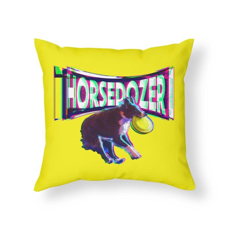 HORSEDOZER FRIZBEEWAVE Home Throw Pillow by HORSEDOZER