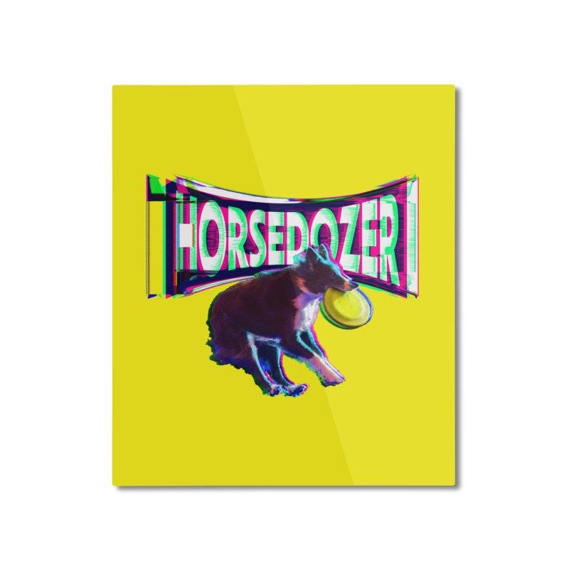 HORSEDOZER FRIZBEEWAVE (SS/21) Home Mounted Aluminum Print by HORSEDOZER
