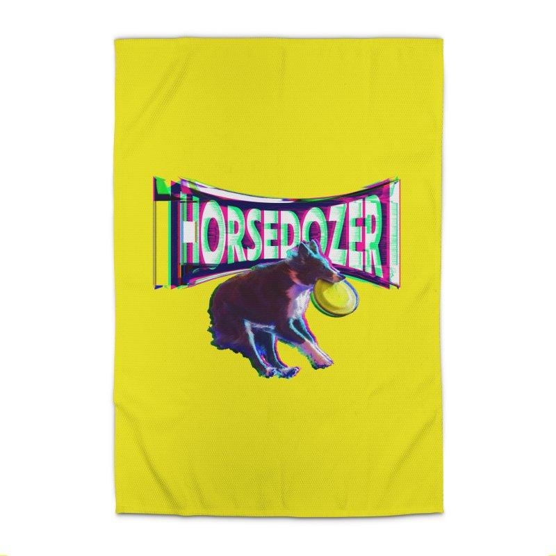 HORSEDOZER FRIZBEEWAVE Home Rug by HORSEDOZER