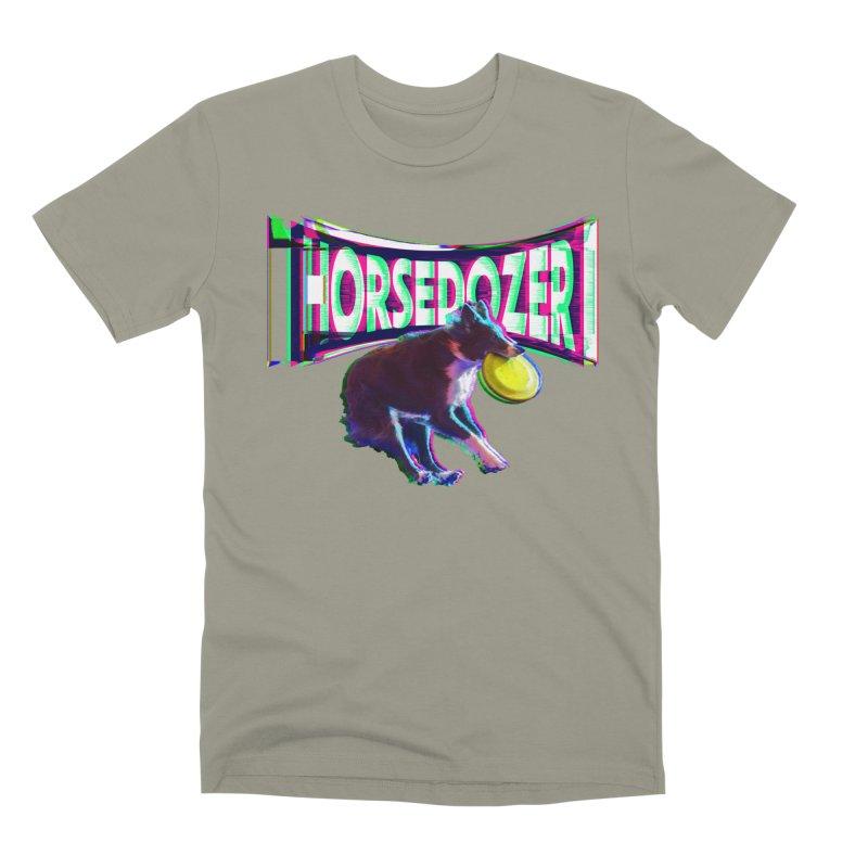 HORSEDOZER FRIZBEEWAVE Men's T-Shirt by HORSEDOZER