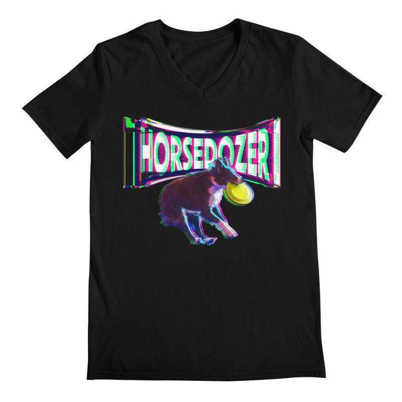 HORSEDOZER FRIZBEEWAVE Men's V-Neck by HORSEDOZER