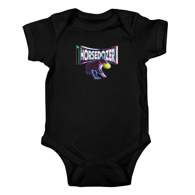 HORSEDOZER FRIZBEEWAVE Kids Baby Bodysuit by HORSEDOZER
