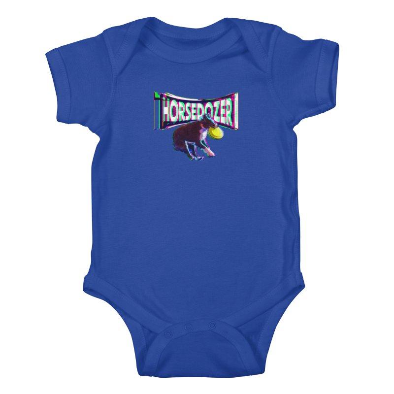 HORSEDOZER FRIZBEEWAVE (SS/21) Kids Baby Bodysuit by HORSEDOZER
