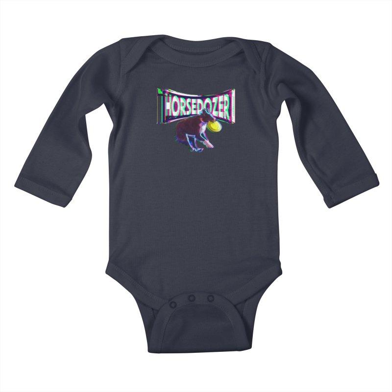 HORSEDOZER FRIZBEEWAVE Kids Baby Longsleeve Bodysuit by HORSEDOZER