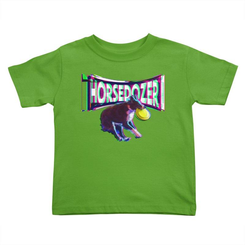 HORSEDOZER FRIZBEEWAVE Kids Toddler T-Shirt by HORSEDOZER