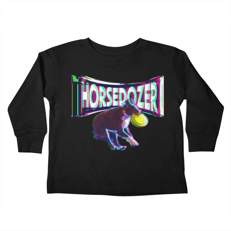 HORSEDOZER FRIZBEEWAVE Kids Toddler Longsleeve T-Shirt by HORSEDOZER
