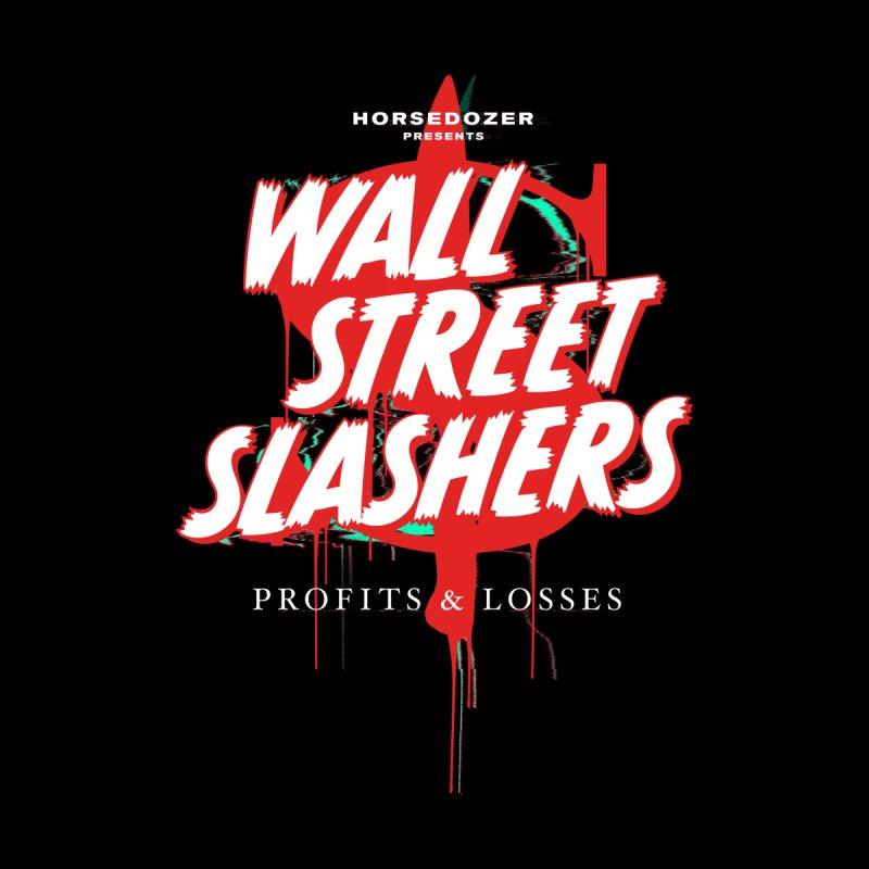 HORSEDOZER PRESENTS WALL STREET SLASHERS Women's V-Neck by HORSEDOZER
