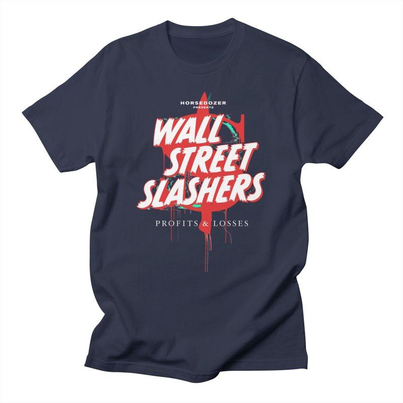 HORSEDOZER PRESENTS WALL STREET SLASHERS (SS/21) Men's T-Shirt by HORSEDOZER