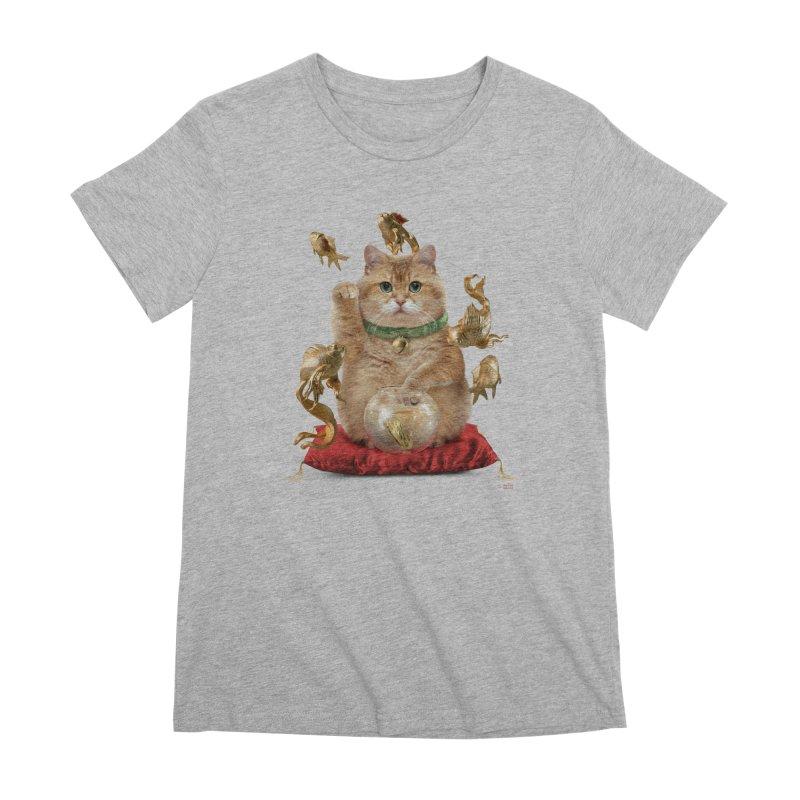 Hosico Maneki-neko Women's Premium T-Shirt by Hosico's Shop