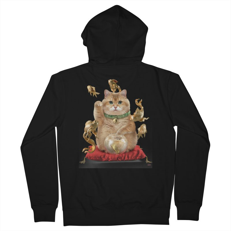Hosico Maneki-neko Men's Zip-Up Hoody by Hosico's Shop