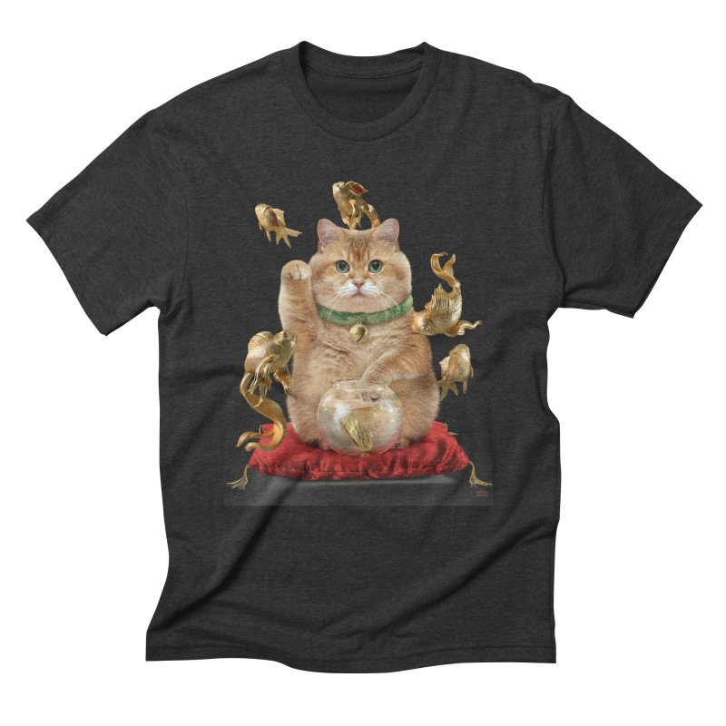 Hosico Maneki-neko Men's Triblend T-Shirt by Hosico's Shop