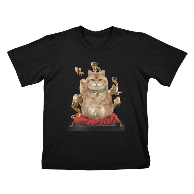 Hosico Maneki-neko Kids T-Shirt by Hosico's Shop