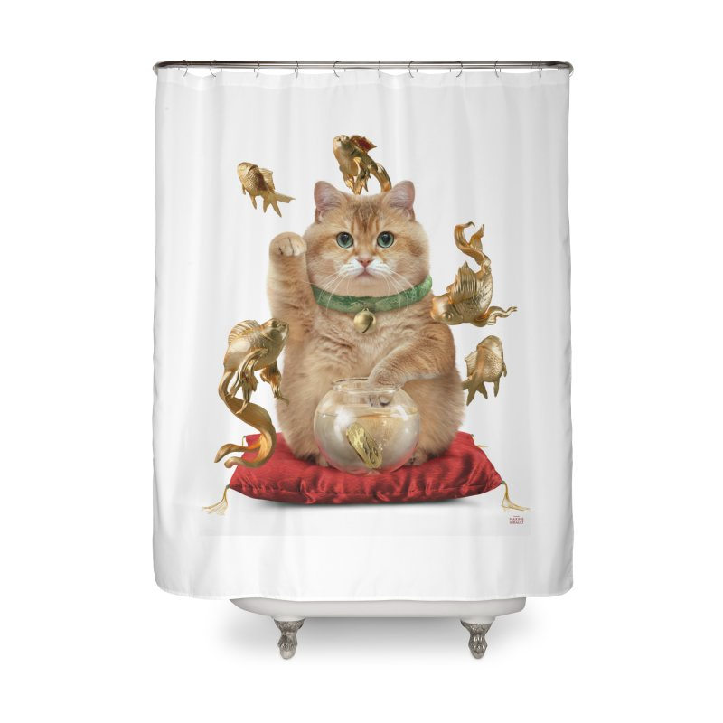 Hosico Maneki-neko Home Shower Curtain by Hosico's Shop