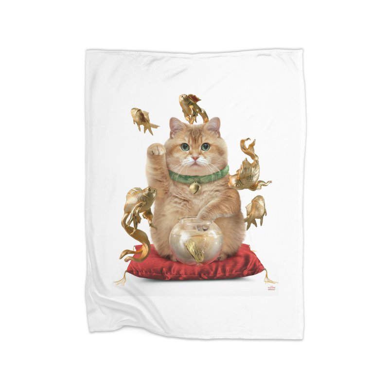 Hosico Maneki-neko Home Fleece Blanket Blanket by Hosico's Shop