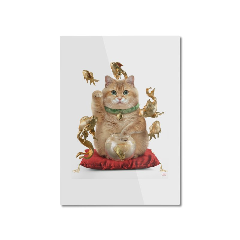 Hosico Maneki-neko Home Mounted Aluminum Print by Hosico's Shop
