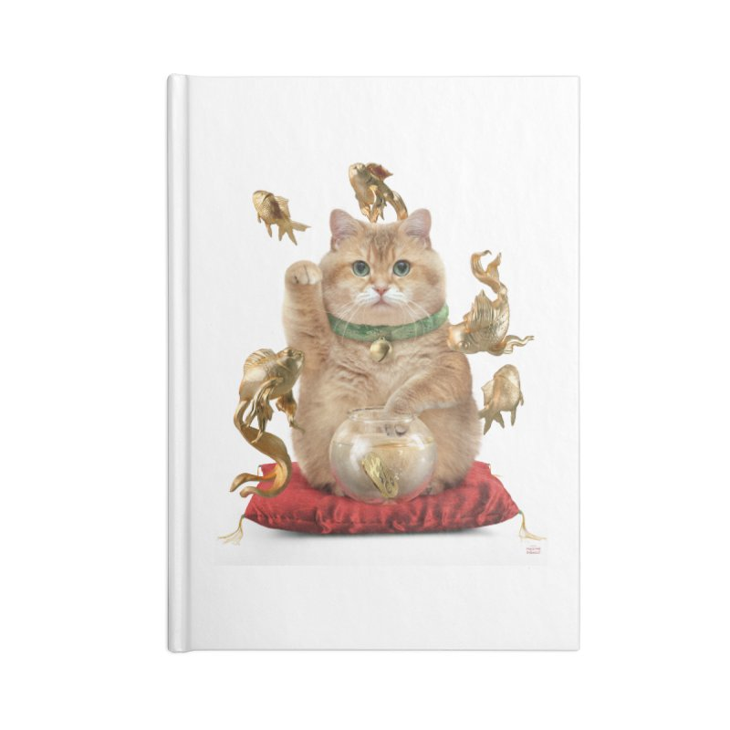 Hosico Maneki-neko Accessories Blank Journal Notebook by Hosico's Shop