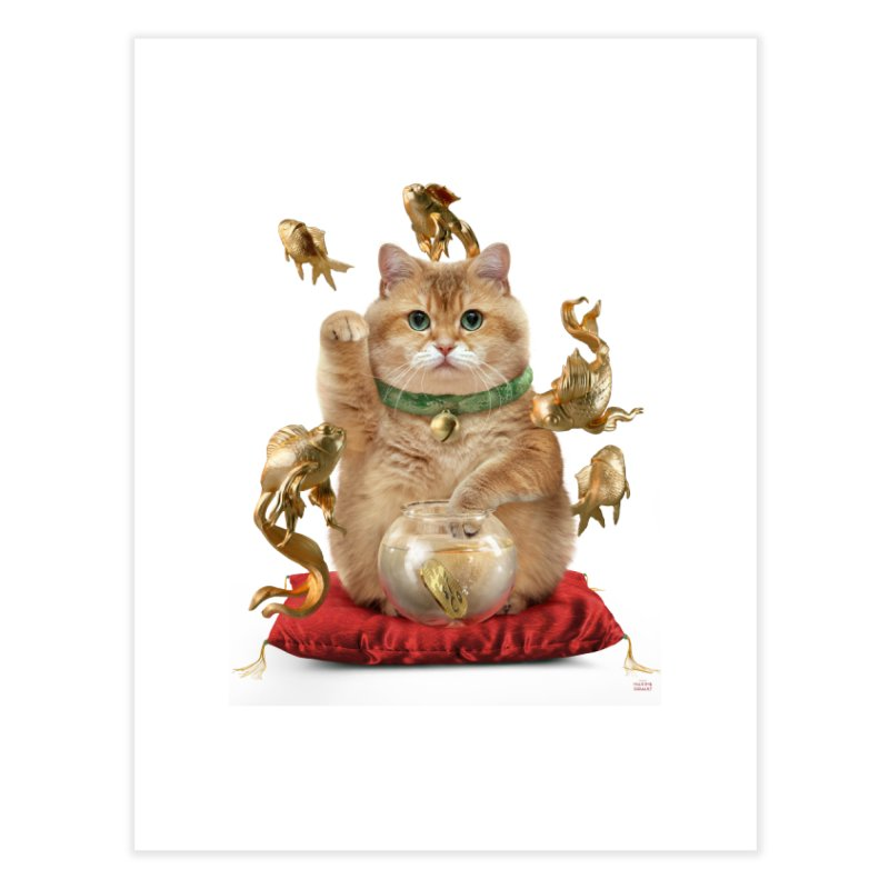 Hosico Maneki-neko Home Fine Art Print by Hosico's Shop