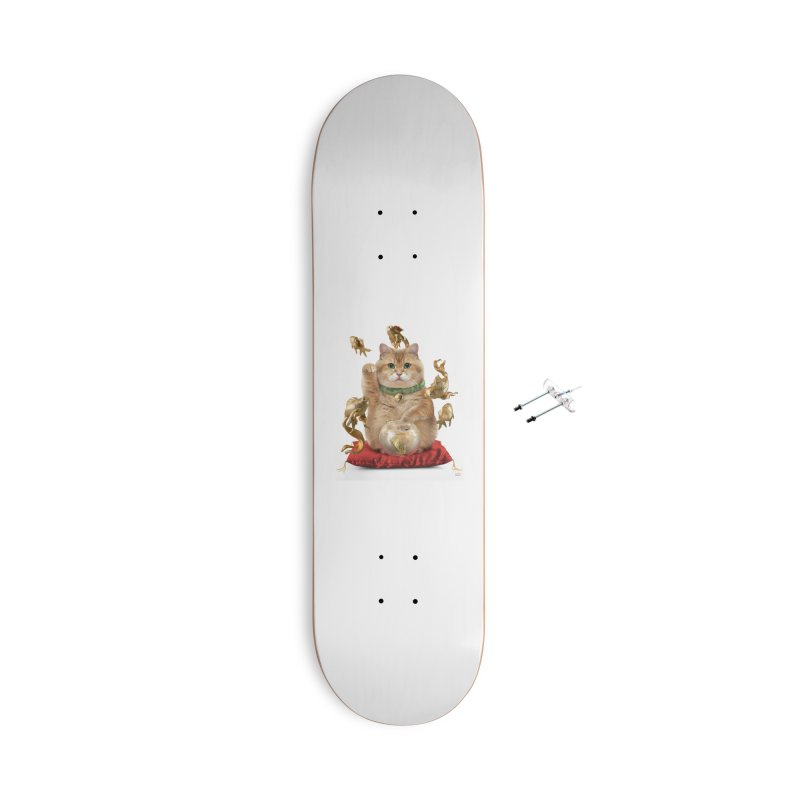 Hosico Maneki-neko Accessories With Hanging Hardware Skateboard by Hosico's Shop