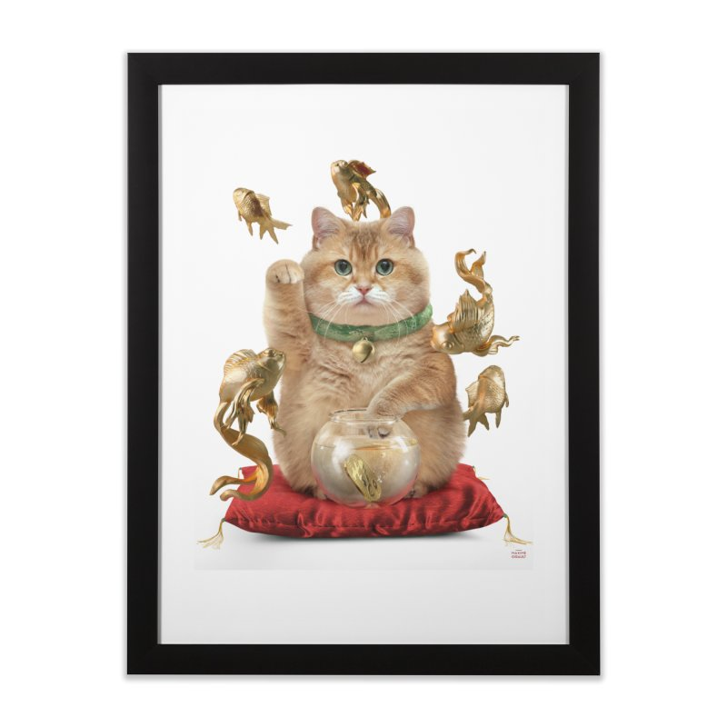 Hosico Maneki-neko Home Framed Fine Art Print by Hosico's Shop