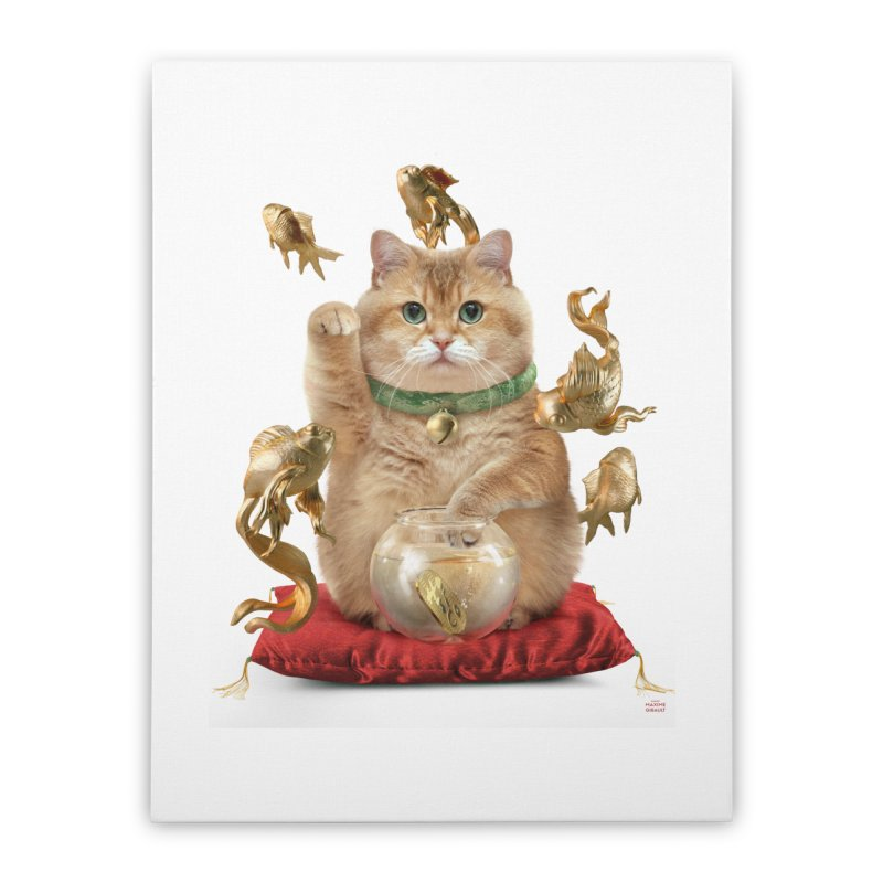 Hosico Maneki-neko Home Stretched Canvas by Hosico's Shop
