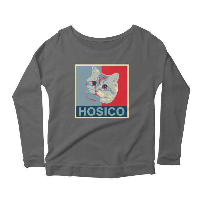 HOSICO Women's Scoop Neck Longsleeve T-Shirt by Hosico's Shop