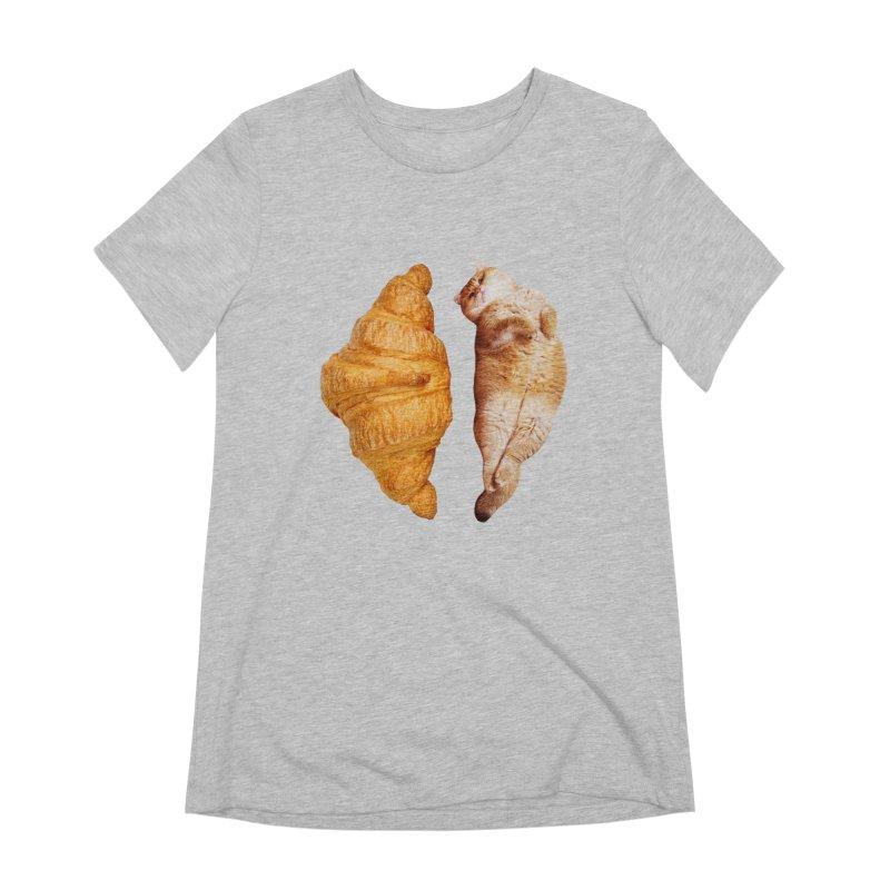 Croissant Women's Extra Soft T-Shirt by Hosico's Shop