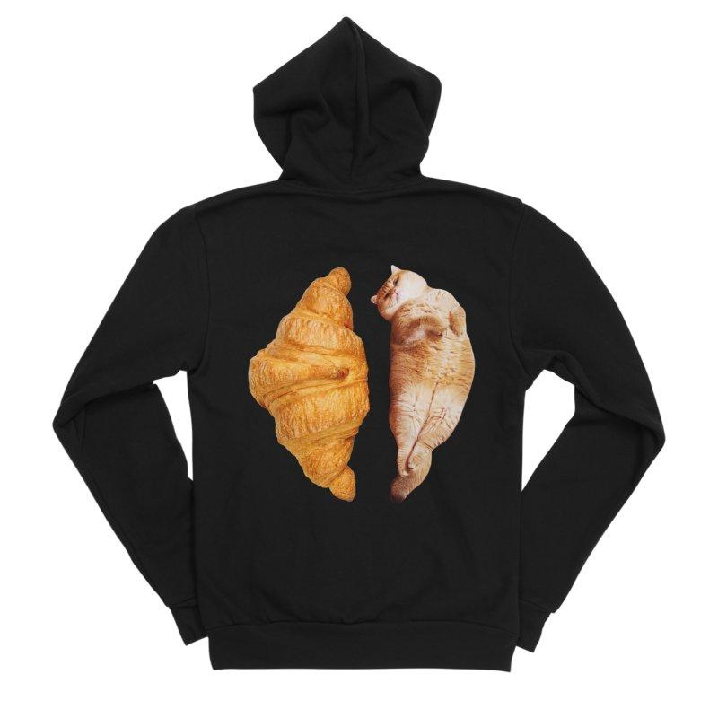 Croissant Men's Sponge Fleece Zip-Up Hoody by Hosico's Shop