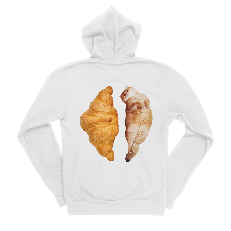 Croissant Women's Zip-Up Hoody by Hosico's Shop