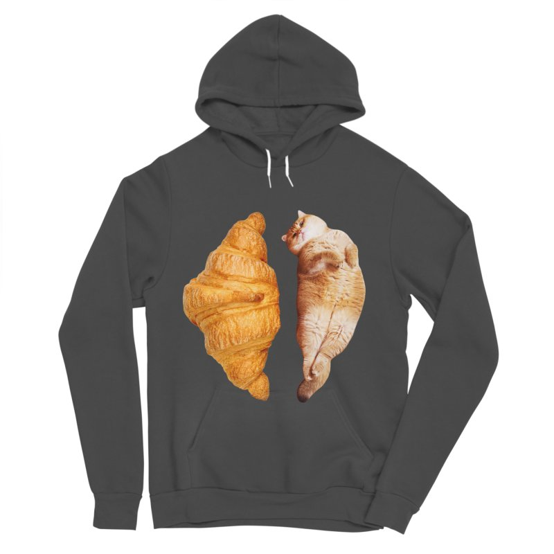 Croissant Women's Sponge Fleece Pullover Hoody by Hosico's Shop