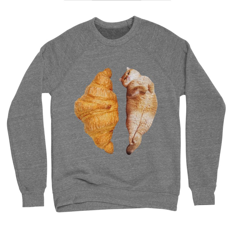 Croissant Women's Sponge Fleece Sweatshirt by Hosico's Shop