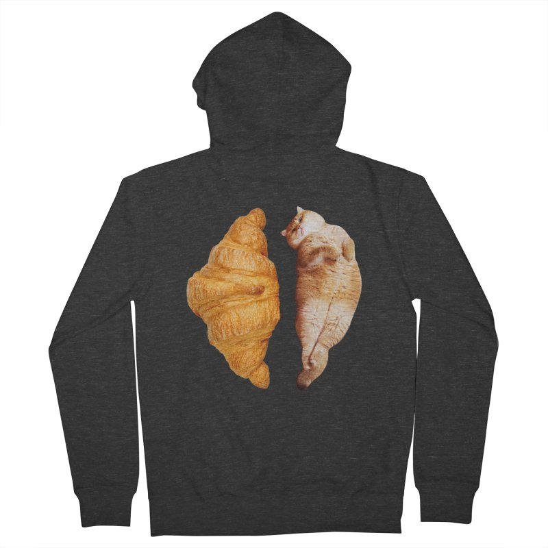 Croissant Women's French Terry Zip-Up Hoody by Hosico's Shop