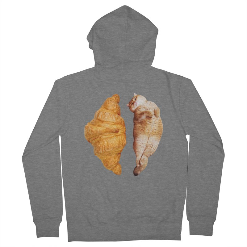 Croissant Men's French Terry Zip-Up Hoody by Hosico's Shop