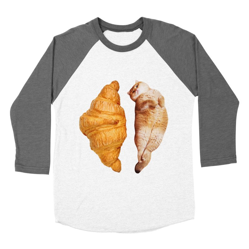 Croissant Women's Baseball Triblend Longsleeve T-Shirt by Hosico's Shop