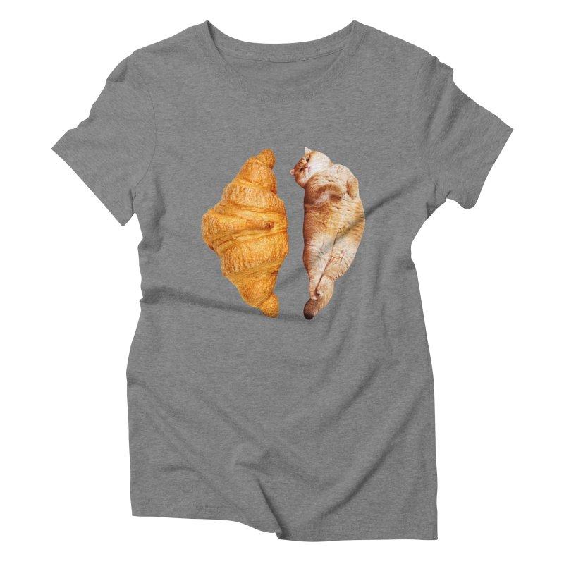 Croissant Women's Triblend T-Shirt by Hosico's Shop