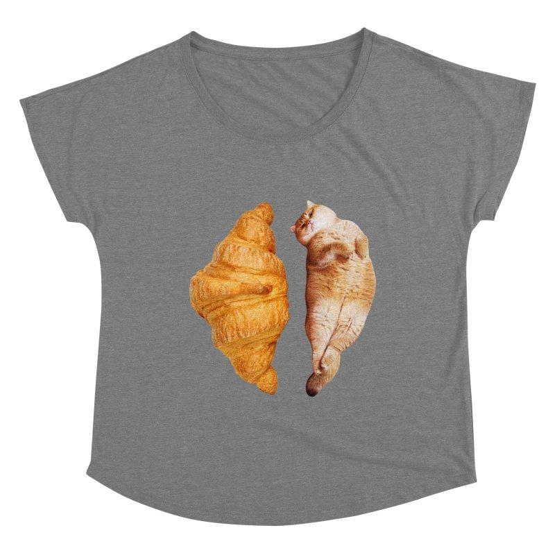 Croissant Women's Scoop Neck by Hosico's Shop