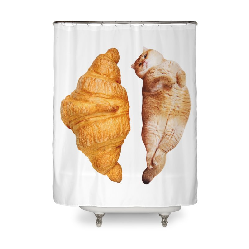 Croissant Home Shower Curtain by Hosico's Shop