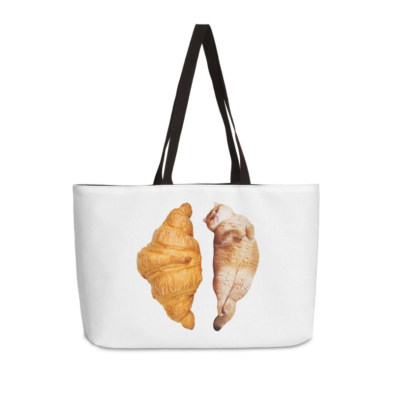 Croissant Accessories Weekender Bag Bag by Hosico's Shop