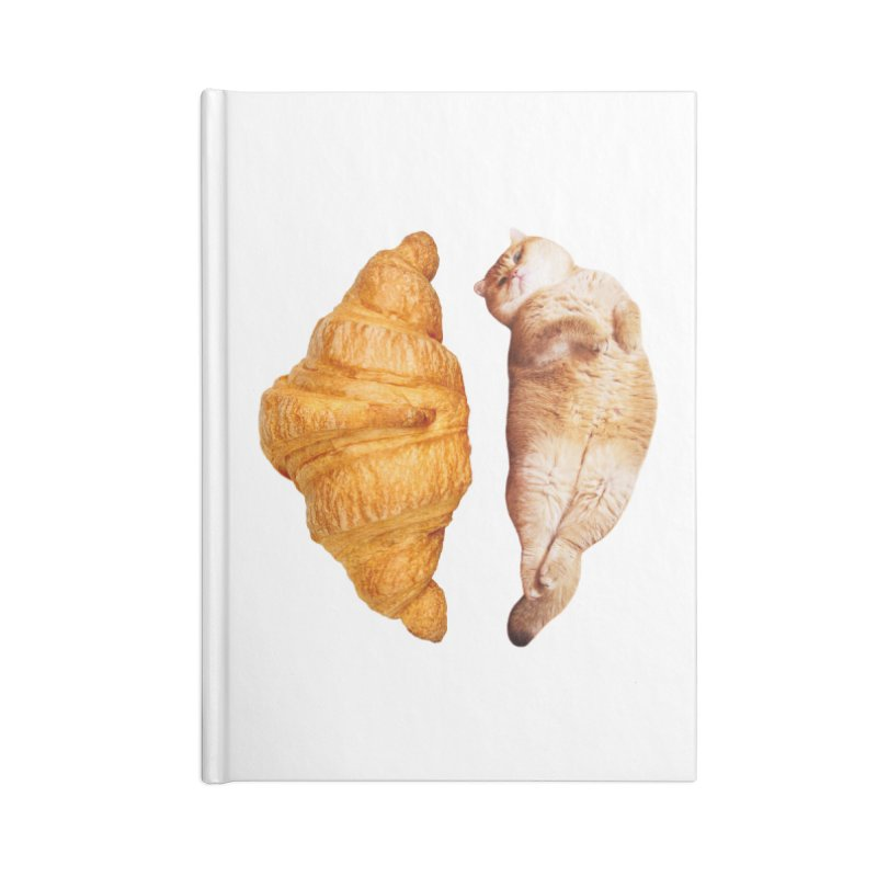 Croissant Accessories Blank Journal Notebook by Hosico's Shop