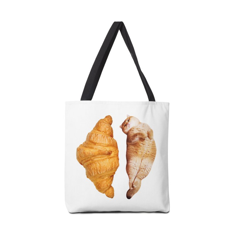 Croissant Accessories Tote Bag Bag by Hosico's Shop