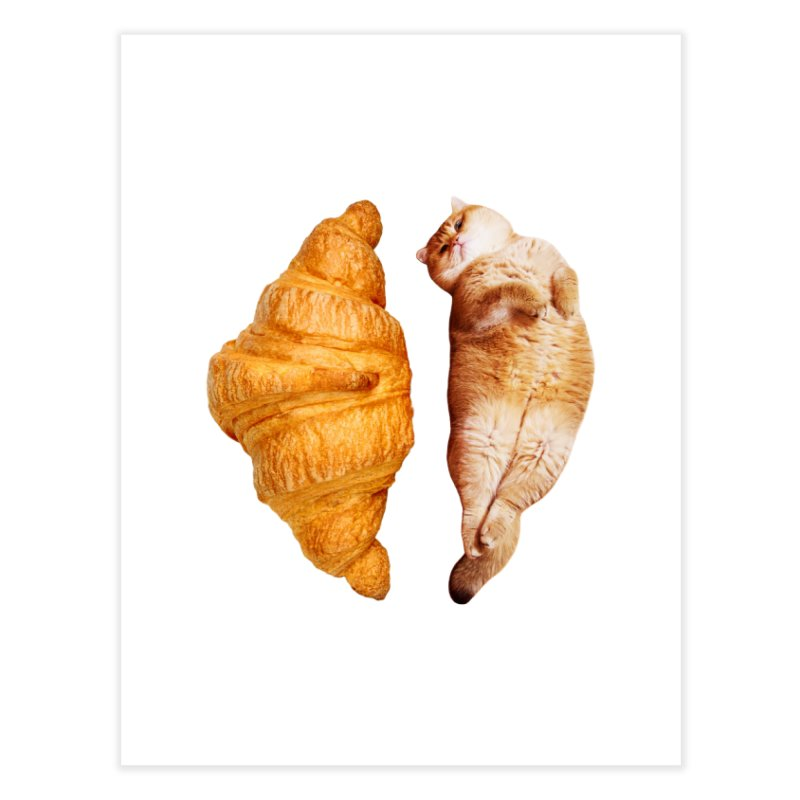 Croissant Home Fine Art Print by Hosico's Shop