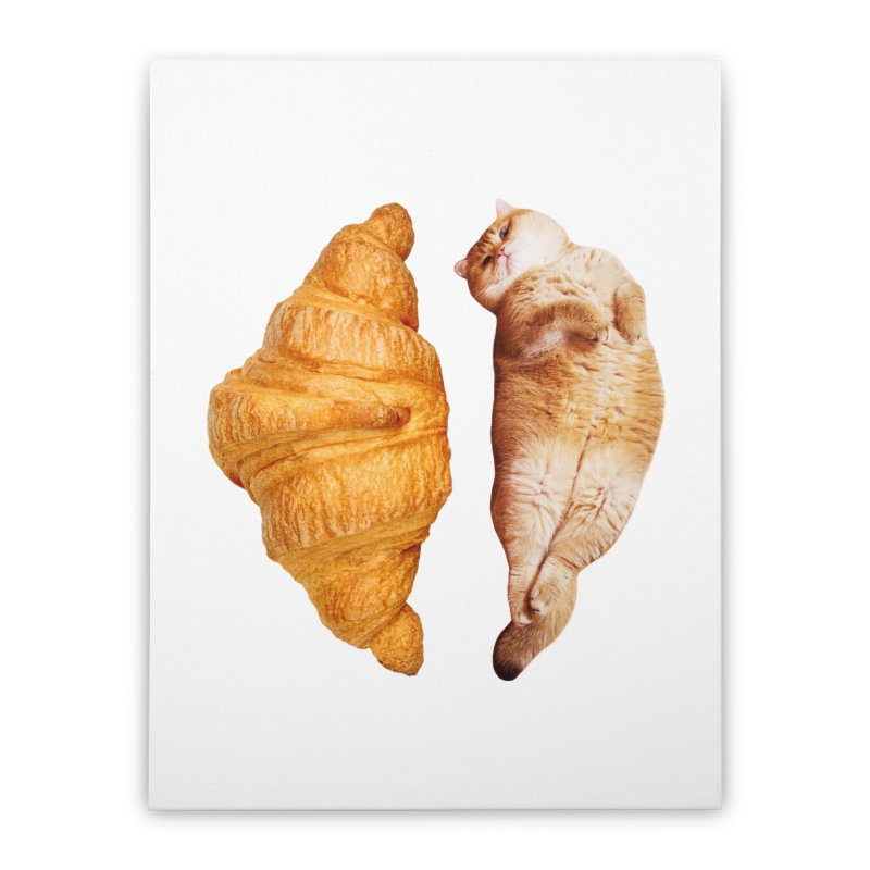 Croissant Home Stretched Canvas by Hosico's Shop