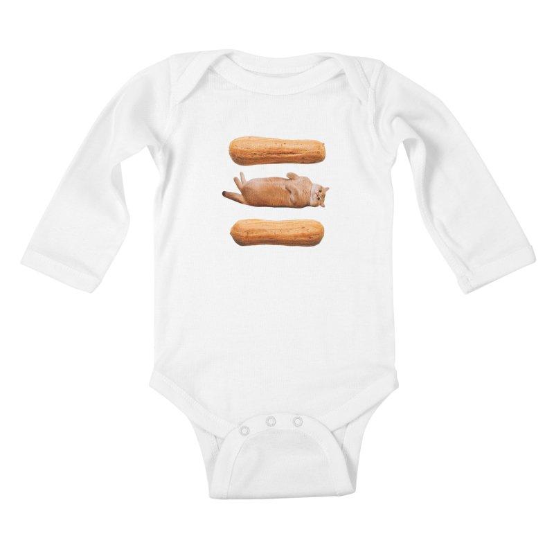 Hosico & Eclairs Kids Baby Longsleeve Bodysuit by Hosico's Shop