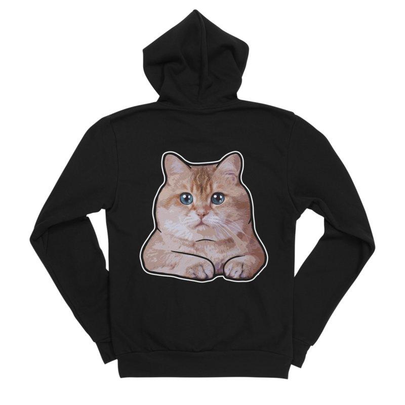 Hosico Cat Men's Sponge Fleece Zip-Up Hoody by Hosico's Shop
