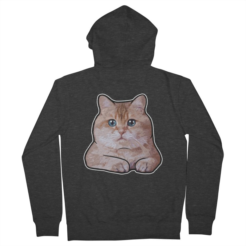 Hosico Cat Men's French Terry Zip-Up Hoody by Hosico's Shop