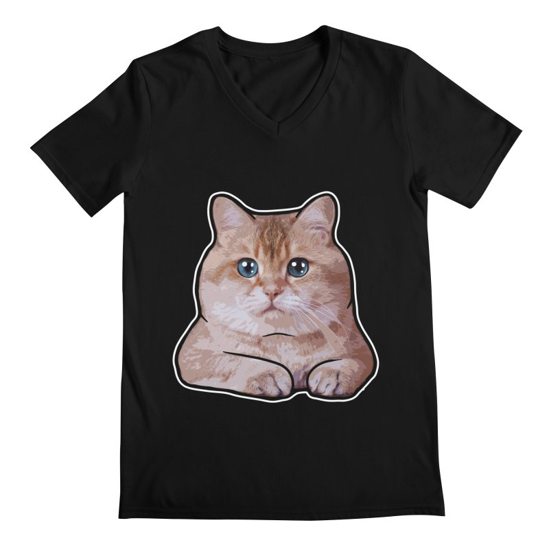 Hosico Cat Men's Regular V-Neck by Hosico's Shop