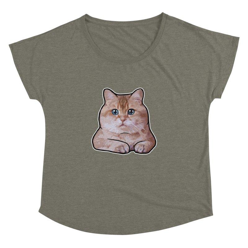 Hosico Cat Women's Dolman Scoop Neck by Hosico's Shop