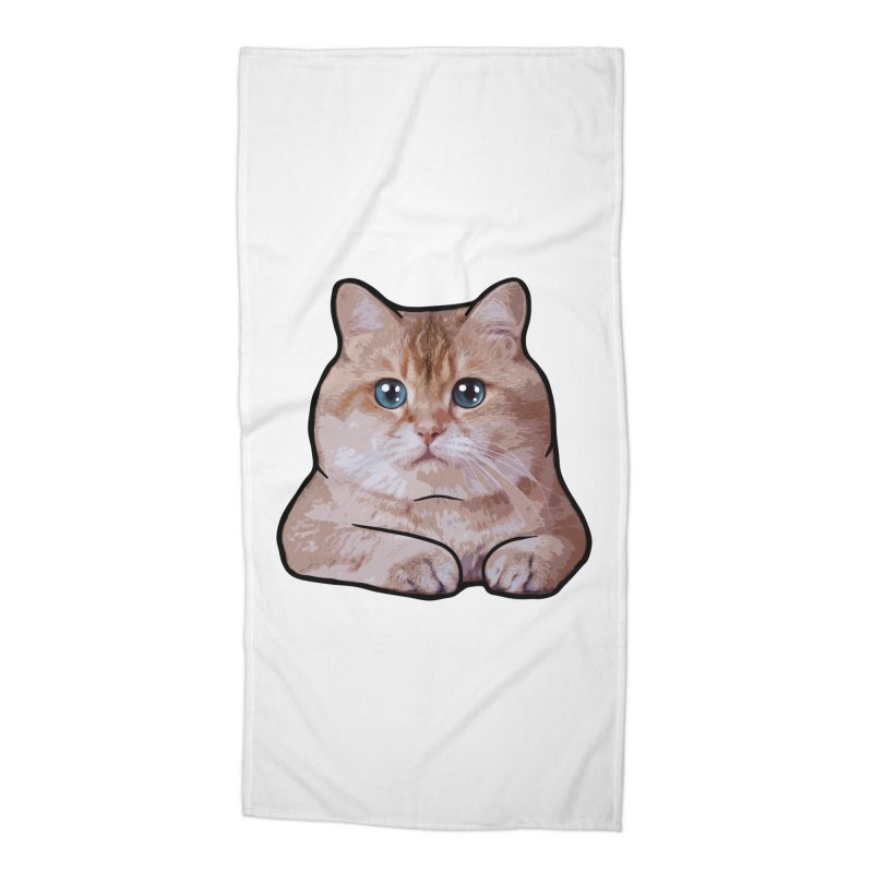 Hosico Cat Accessories Beach Towel by Hosico's Shop